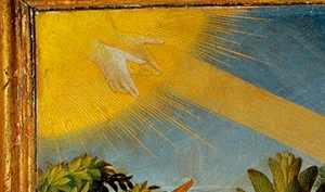 Annunciation_Prado_hands of God Father
